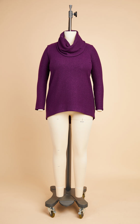 Tobin Sweater Bundle: Deep Plum Boiled Wool Blend Kit