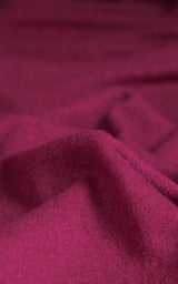 REMNANT: Fuchsia Boiled Wool Blend, Various Lengths