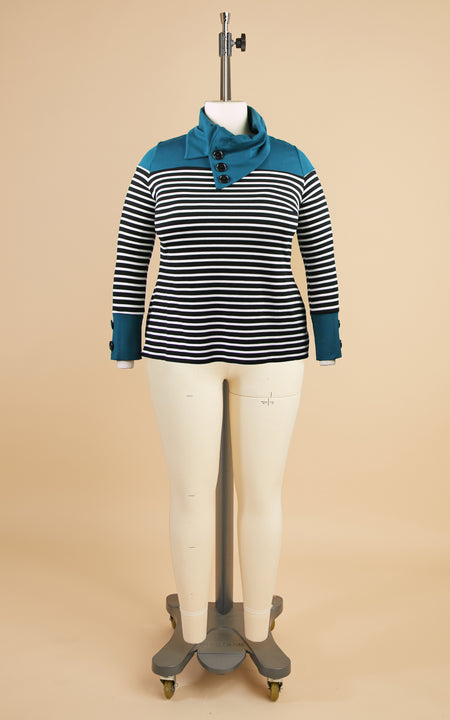 Tobin Sweater Bundle: Teal and Stripe Ponte Kit