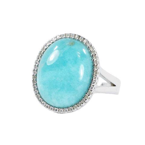 Designs by Eric Amazonite Halo Ring