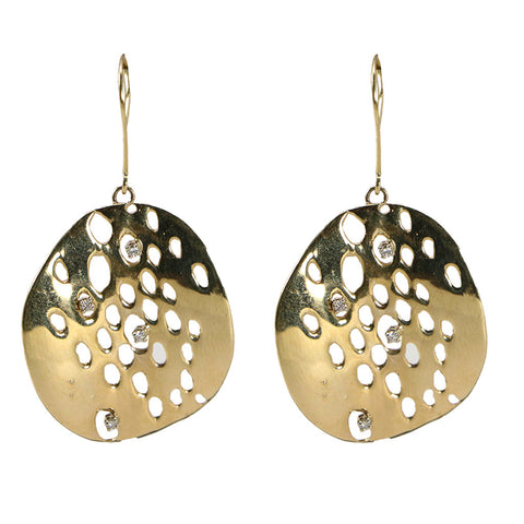The Passionate Collector Gold & Diamond Token Earrings