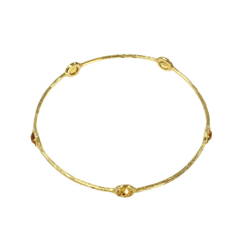 Five Citrine Bangle - The Passionate Collector