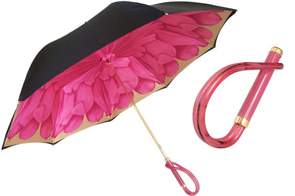 Pasotti FUCHSIA DAHLIA UMBRELLA, DOUBLE CLOTH - The Passionate Collector