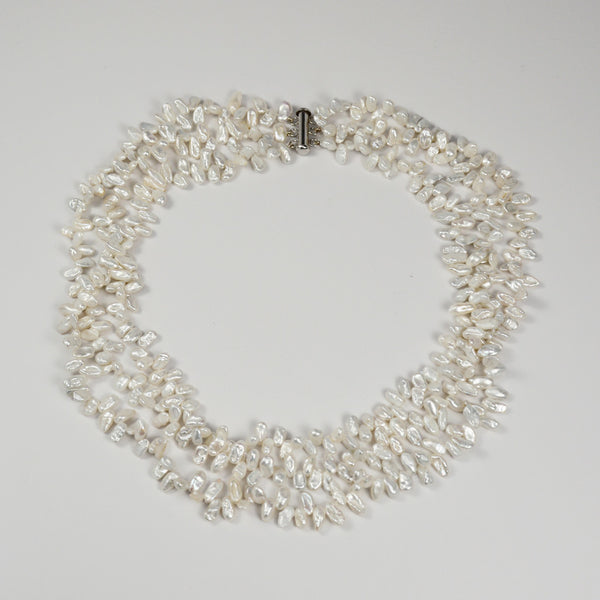 Nanni Triple Row Keshi Pearl Necklace - The Passionate Collector