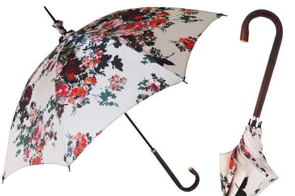 Pasotti Parasol MANUAL OPENING FLOWERS PARASOL, RAINPROOF - The Passionate Collector