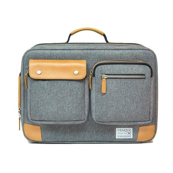Venque Briefpack XL Grey - The Passionate Collector