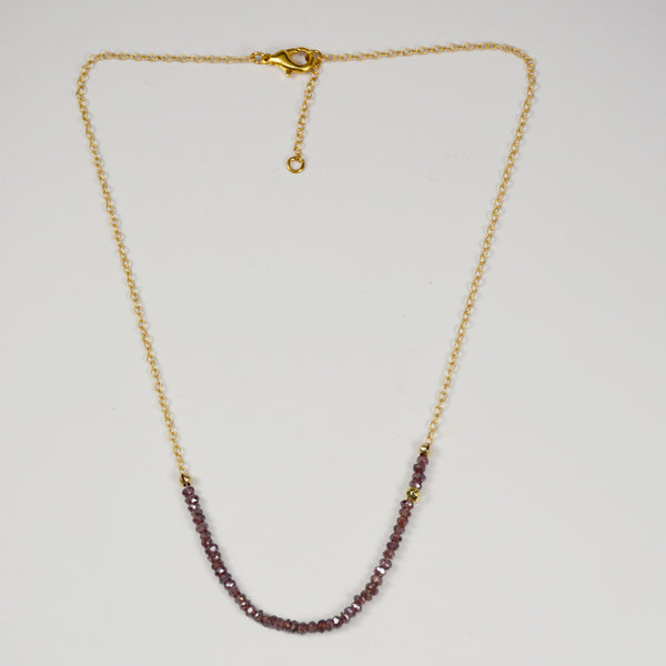 G2G Necklace on Yellow Gold Chain with Gemstones