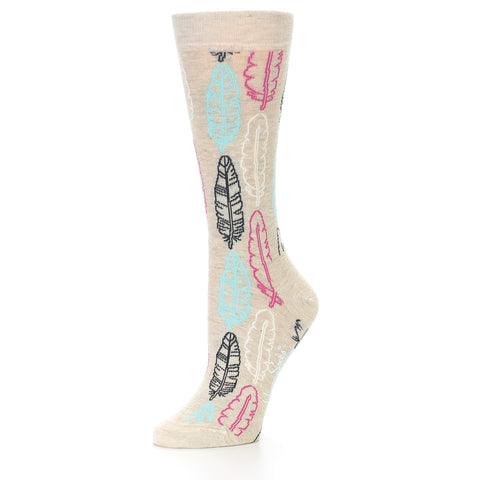 Happy Socks Women's Feather Crew Sock - The Passionate Collector