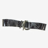 Suzi Roher Metal Circle Detailed Leather Belt