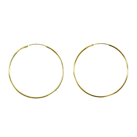 "2"" x 1.5mm 14K Vermeil Hoops - The Passionate Collector"