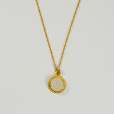 Vermeil Faceted Pendant Necklace