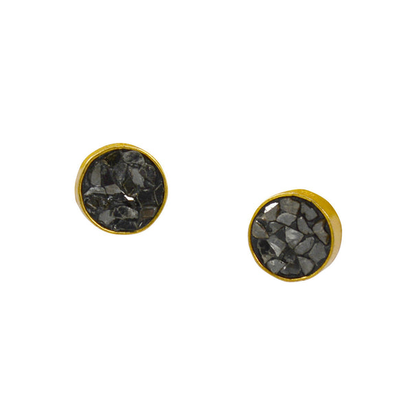 Sliced Diamond and Gold Studs