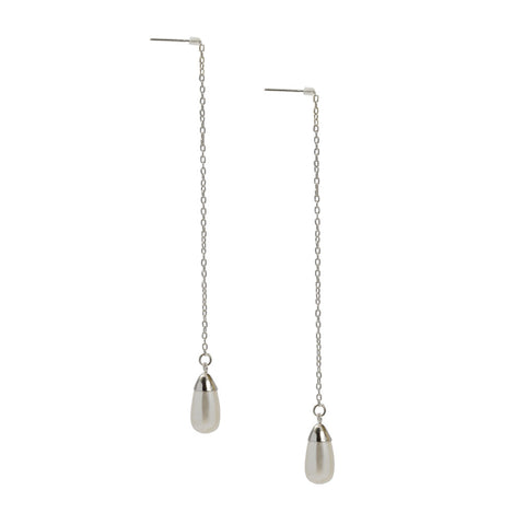 Debra Shepard Sterling Silver Pearl Expressions Threader Earrings - The Passionate Collector