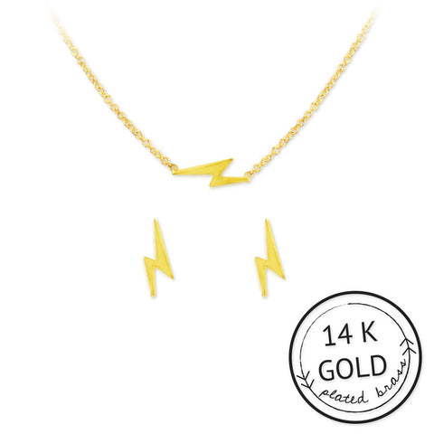 Be Electric Necklace & Earring Set - The Passionate Collector