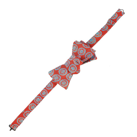 Harshita  Persian Red and Blue Pattern Bow Tie