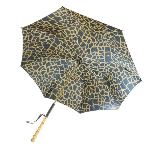 Brown & Brown Giraffe Umbrella w/Bamboo Straight Handle - The Passionate Collector