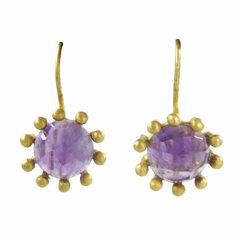 Manjusha Amethyst Burst Earrings