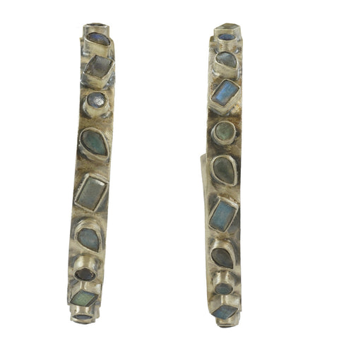 Designs by Eric Labradorite Hoop Earrings