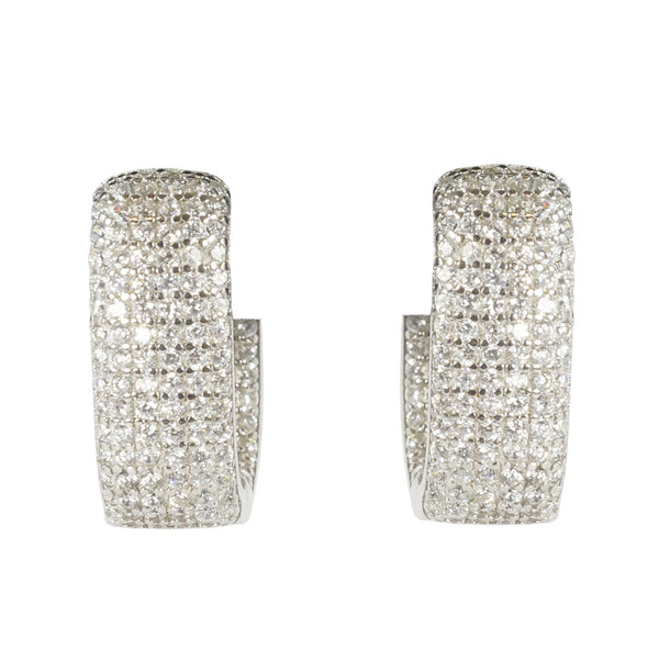 Designs by Eric Sterling Silver Huggie Earring with CZ's - The Passionate Collector