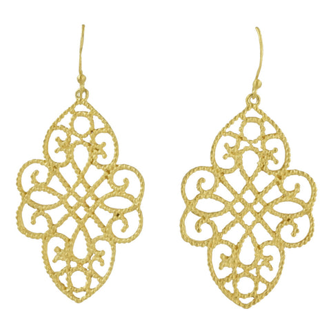 Manjusha Gold Filigree Earrings
