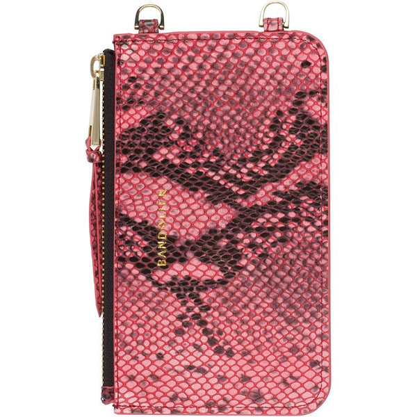 Bandolier Pouch Pink Snake