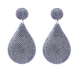 Azaara Rose Gold Earrings with Rhodium Accents and Pave CZ