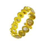 Manjusha Multi Small Oval Rutilated Quartz Bangle
