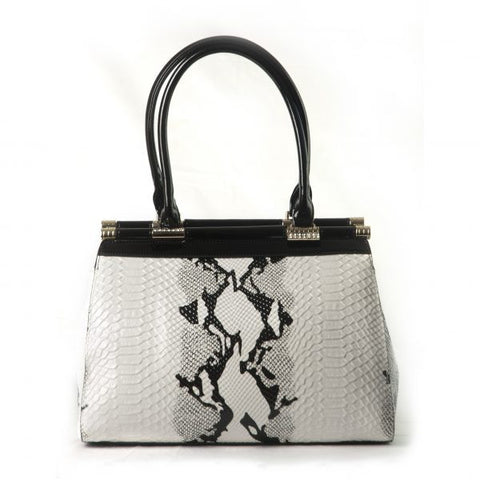 Bravo  Cream/Black Python Original Handbag