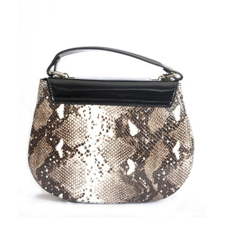 Bravo Lara Snake Print Leather Handbags