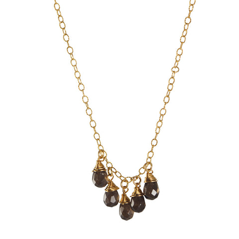 Calinana Five Gemstone drop Necklace