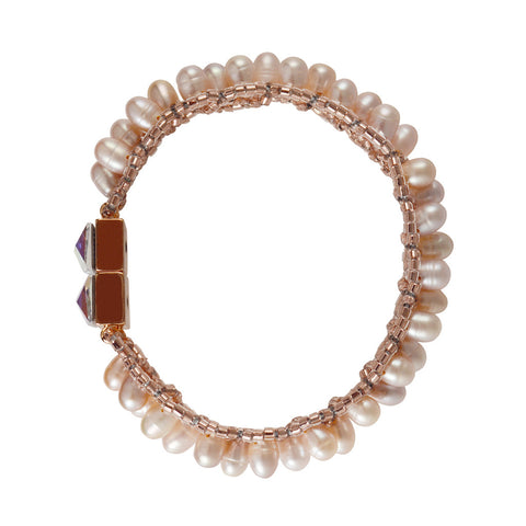Brio Bracelet - Pink Pearls - The Passionate Collector