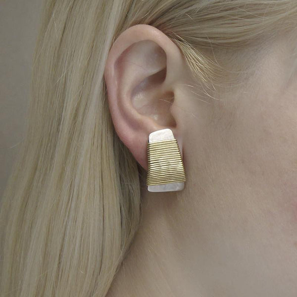 Marjorie Baer Wire-Wrapped Tapered Rectangle Earring