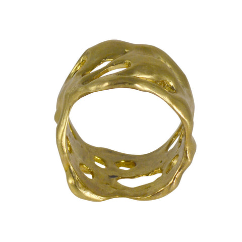 Joanna Morgan Brass ocean rock ring