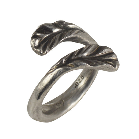 Joanna Morgan Sterling silver winged feathers ring