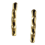 Joanna Morgan Brass studded earrings