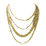 Karine Sultan Five Row Nickel Free Necklace