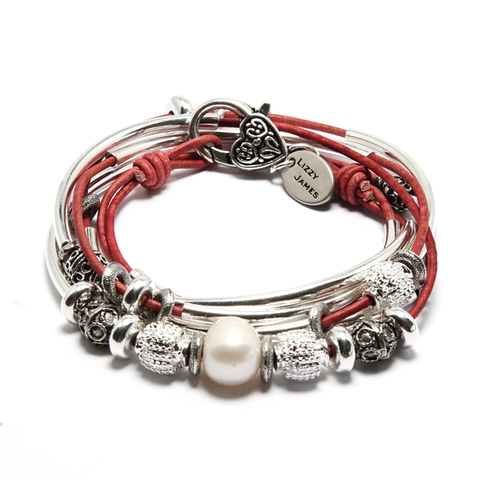 Lizzy James Kristy Leather Bracelet/Necklace - The Passionate Collector