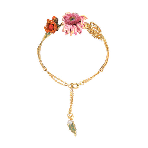 Le Nereides Gold Plated Bracelet with Flower
