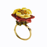 Ring with big flower