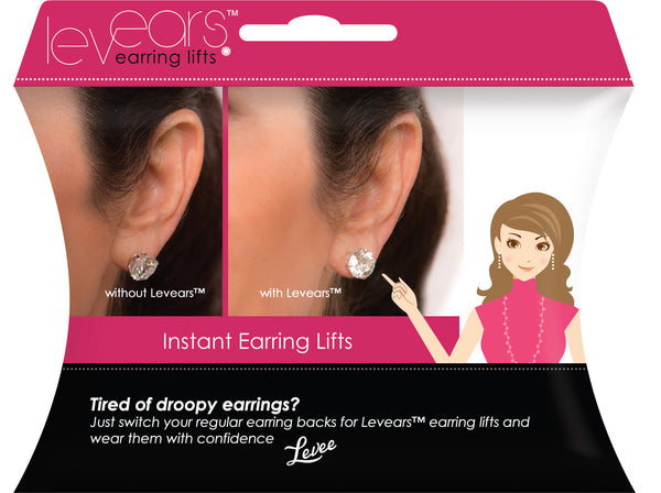 Levears Sterling Silver Earring Lifts - The Passionate Collector