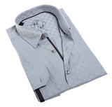 Eight X Solid Grey Jacquard Shirt - The Passionate Collector