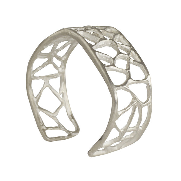 Short Triangle Sterling Silver Cuff
