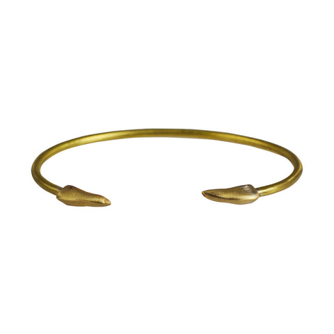 Double Claws Cuff Brass - The Passionate Collector