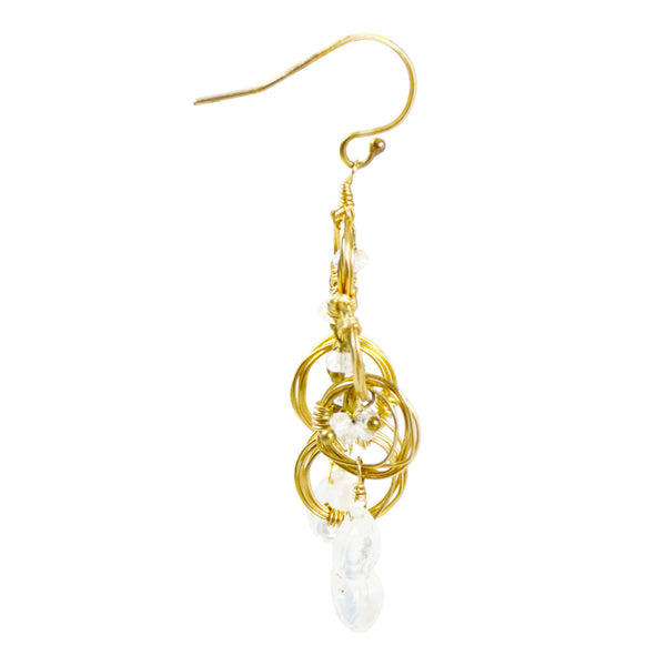 NuNu Designs Swirl Gem Drop Earrings