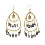 NuNu Designs 14K Gold Filled Triple Tiered Cascade Earrings