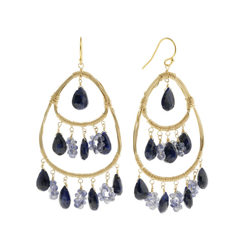 NuNu Designs 14K Gold Filled Triple Tiered Cascade Earrings - The Passionate Collector