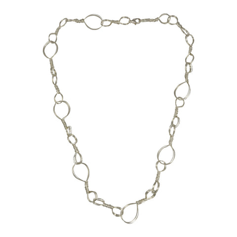 "NuNu Designs 42"" Wire Wrapped Sterling Silver Necklace"