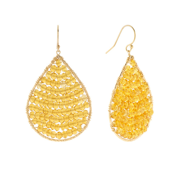 NuNu Designs Faceted Mini Gems Large Earrings - The Passionate Collector