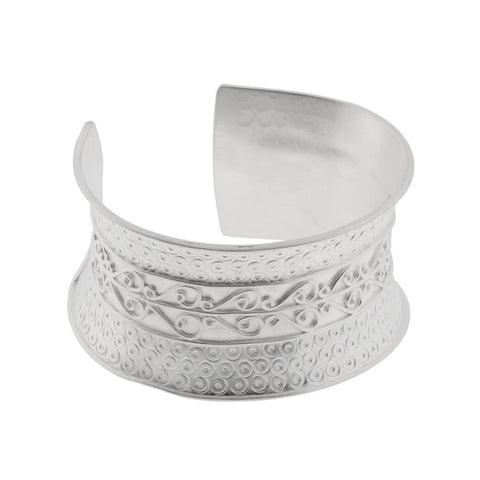 NuNu Designs Swirl Pattern Cuff - The Passionate Collector