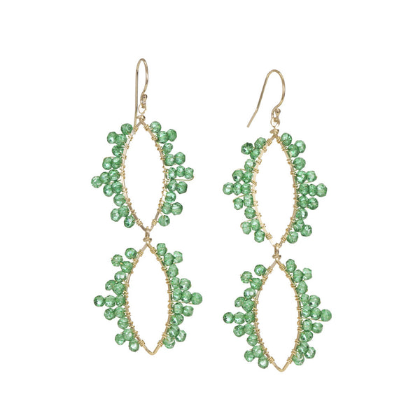 NuNu Designs 2 Dangling Marquis Mini Gems Earrings